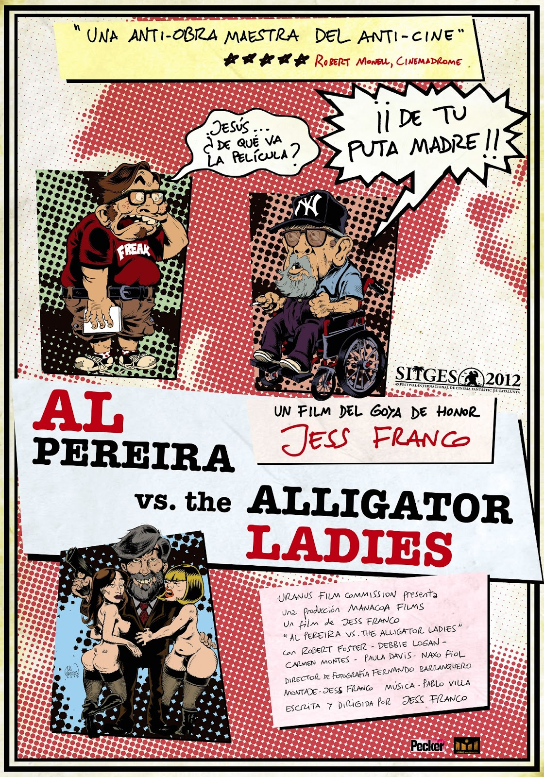 al pereira vs the alligator ladies POSTER A4