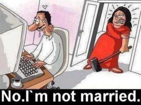 husband cheating on wife chatting on computer getting caught