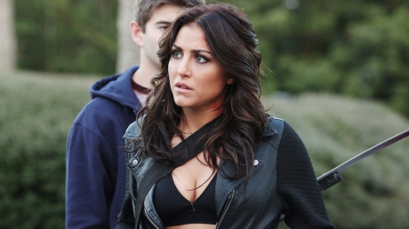 SHARKNADO 3: OH HELL NO! -- Pictured: Cassie Scerbo as Nova Clarke -- (Photo by: Raymond Liu/Syfy)